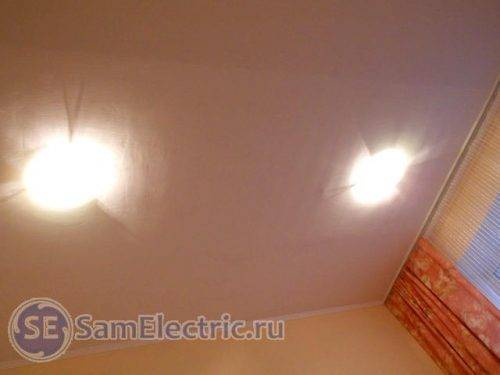 Как подключить светильник потолочный