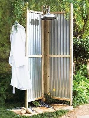 Сделать душ на даче своими руками