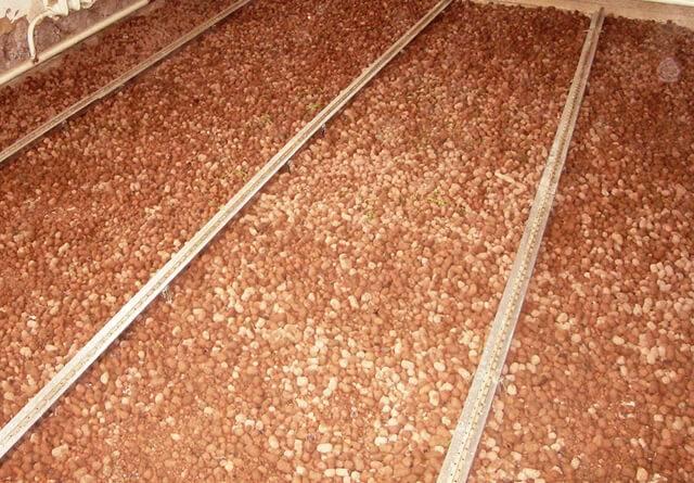 Утепление пола по грунту керамзитом