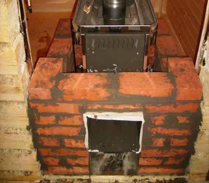 Простая печь для бани из кирпича