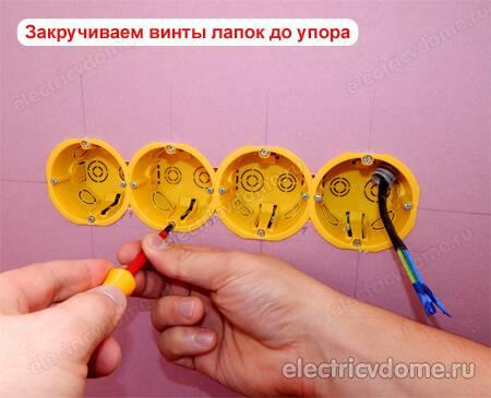 Размер коронки для подрозетников в гипсокартоне