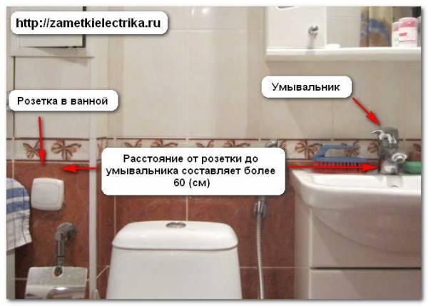 Розетка для ванной комнаты