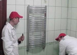 Как правильно установить полотенцесушитель водяной