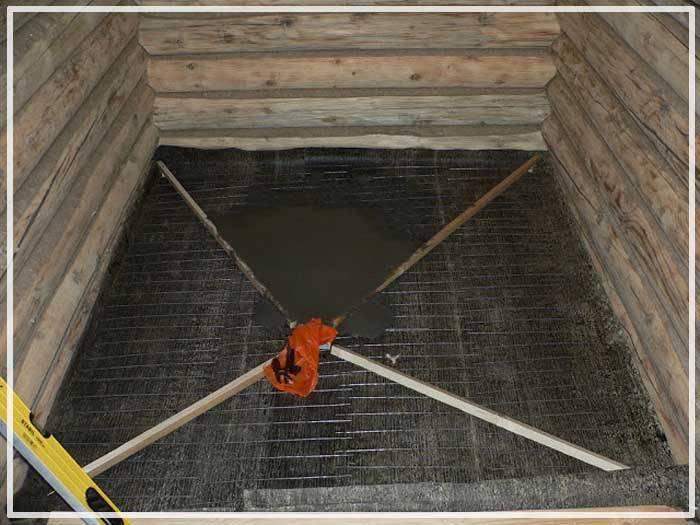 Устройство слива в бане с деревянным полом