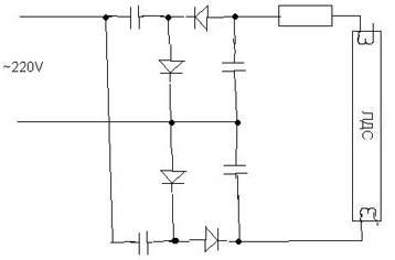 Схема лампы дневного света