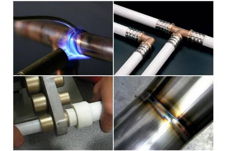 Как соединить пвх трубу с металлической