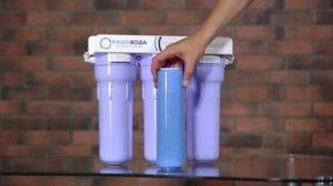 Как поменять картридж в фильтре для воды