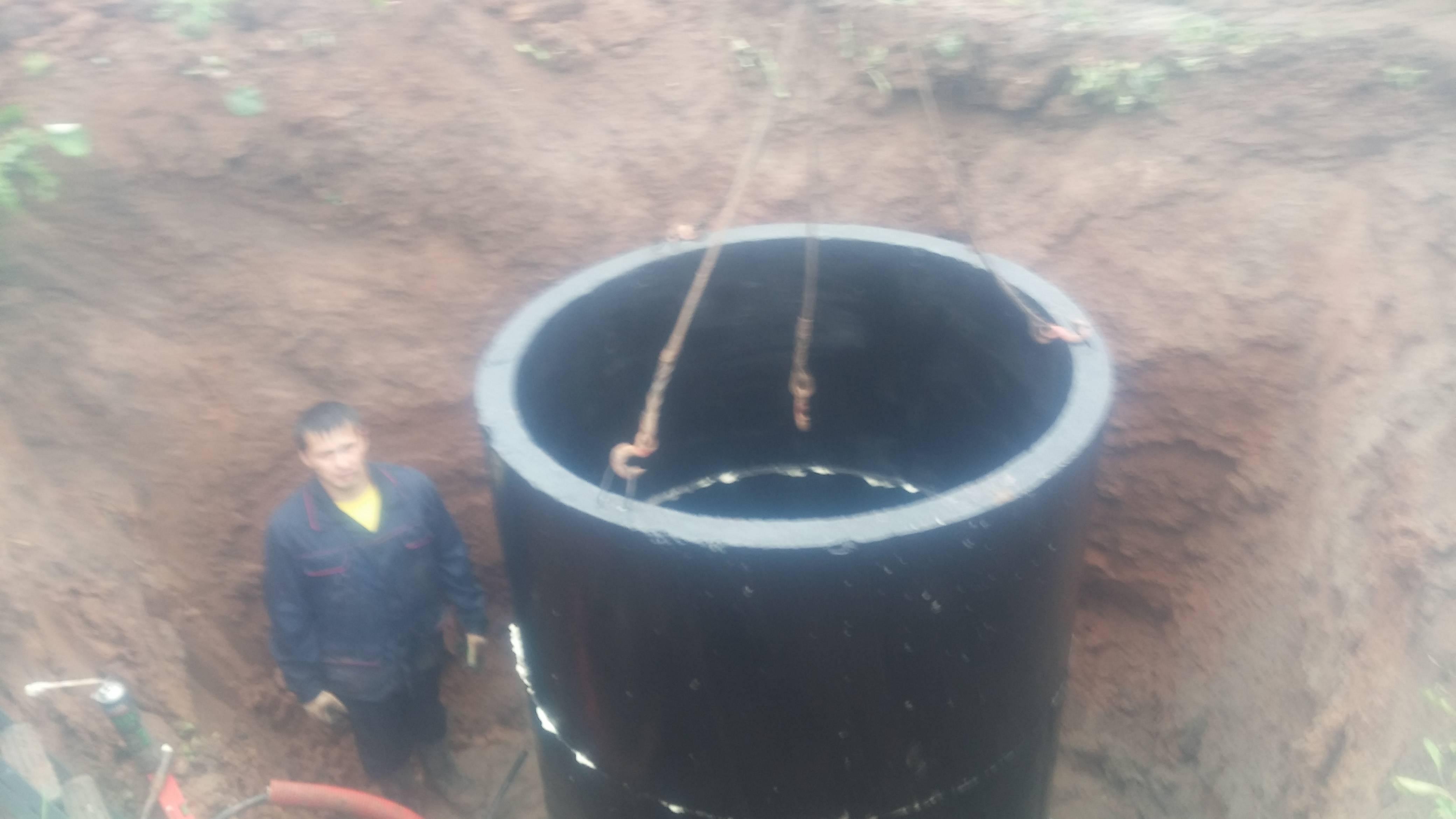 Бетонный кессон для скважины