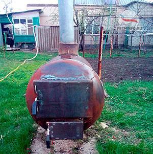 Печка из трубы