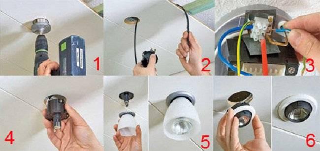 Светильники в гипсокартонный потолок