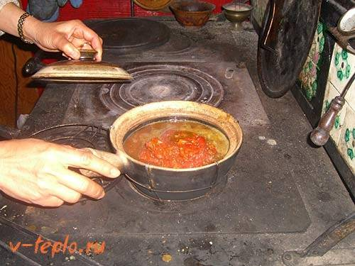 Кирпичная печь для казана