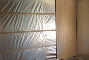 Фольгированный утеплитель для стен бани