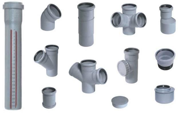 Размеры фитингов для канализационных труб