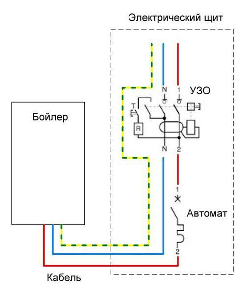 Схема установки водонагревателя