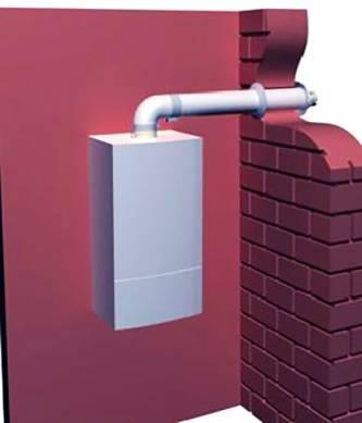 Газовый проточный водонагреватель с закрытой камерой сгорания