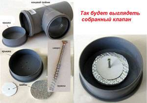 Клапан для канализации 110 мм