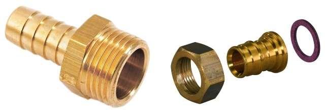 Компрессионный фитинг для металлической трубы