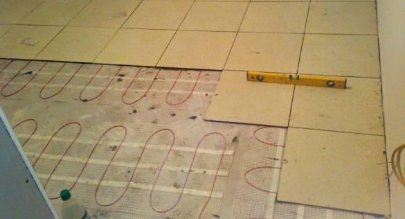 Электро теплый пол под плитку
