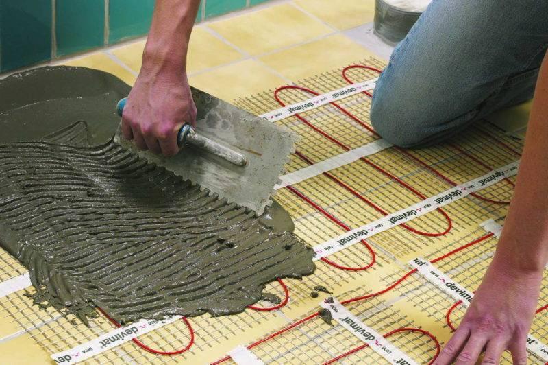 Укладка теплого электрического пола под плитку