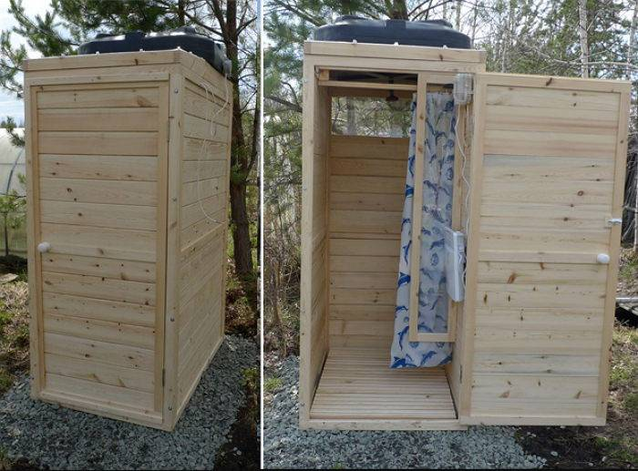 Садовый душ с подогревом