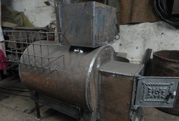 Печь для бани из трубы 530