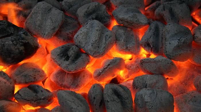 Уголь в брикетах