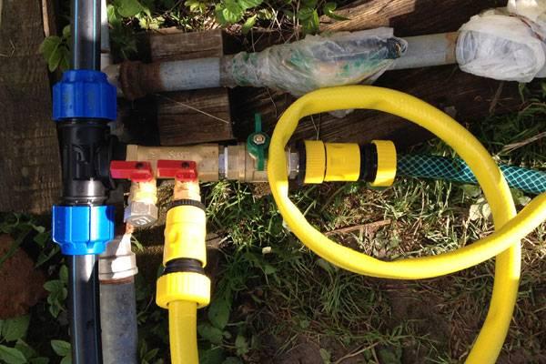 Водопровод из пнд труб