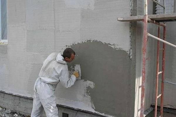 Технология мокрого фасада по пенопласту