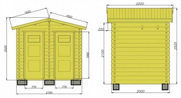 Проекты дачных туалетов с чертежами и описанием