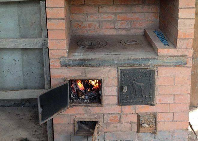 Печь голландка с плитой