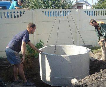 Колодцы для канализации