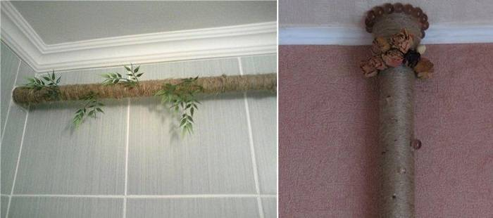 Как скрыть трубу отопления в комнате