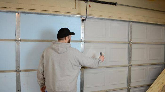 Утепление гаражных ворот своими руками