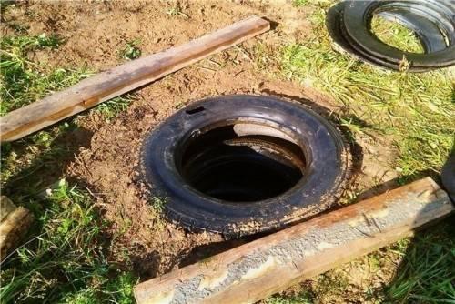 Как сделать сливную яму из покрышек