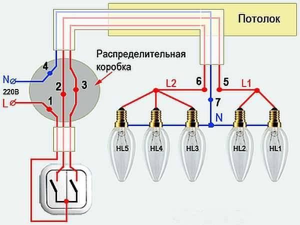 Правильная скрутка проводов в распределительной коробке