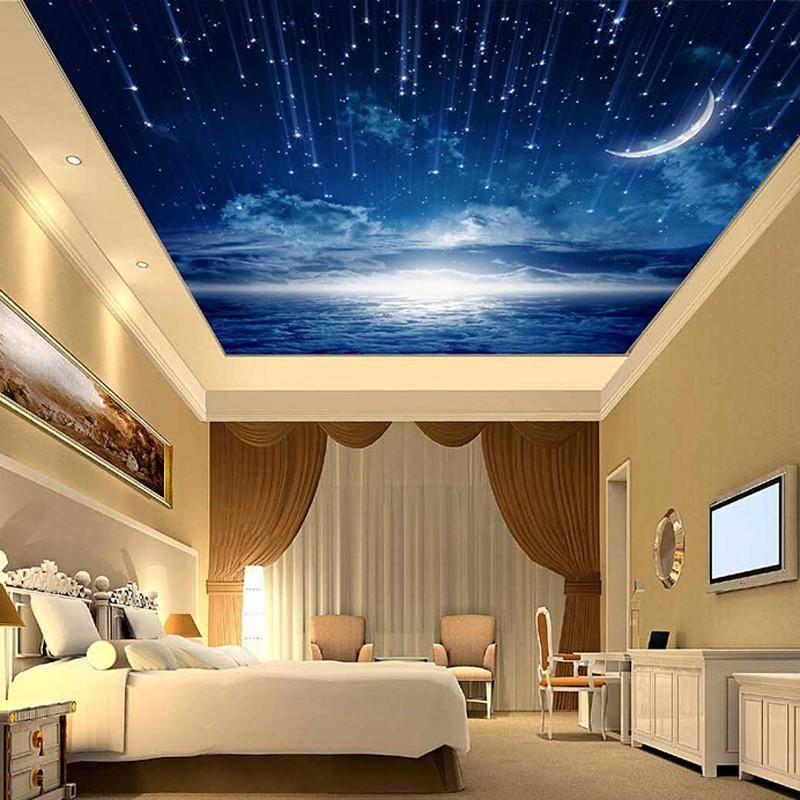 Расположение точечных светильников в спальне
