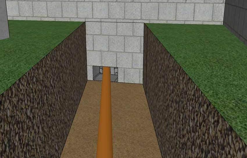 Как пробить отверстие в фундаменте под канализацию