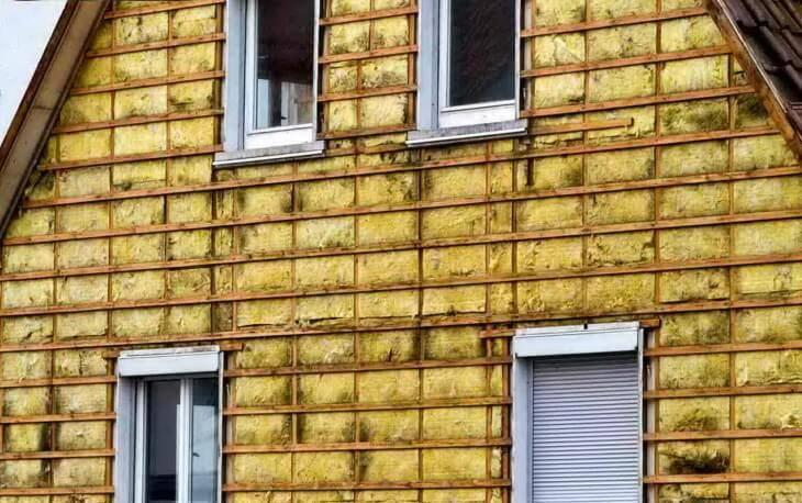 Облицовка и утепление фасада дома