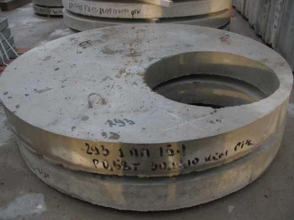 Крышка для колодца бетонная