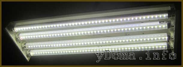 Замена лампы дневного света