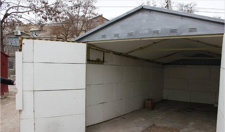 Утепление металлического гаража изнутри своими руками