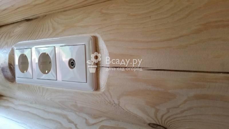 Внутренняя электропроводка в деревянном доме
