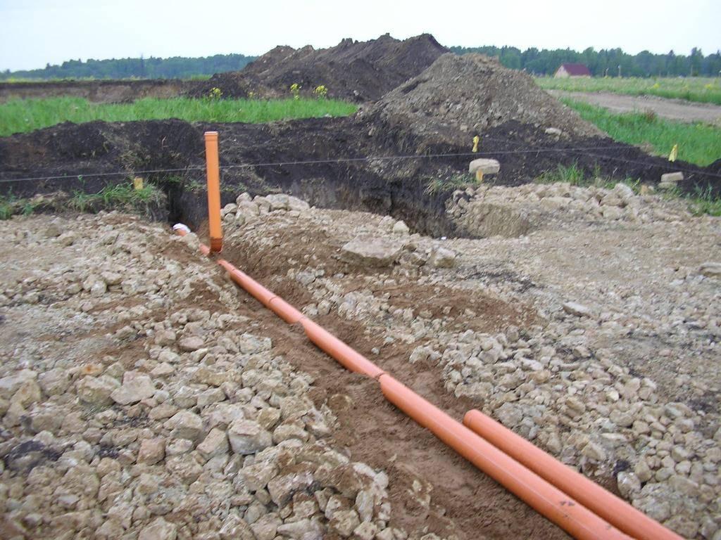 Наклон канализационной трубы