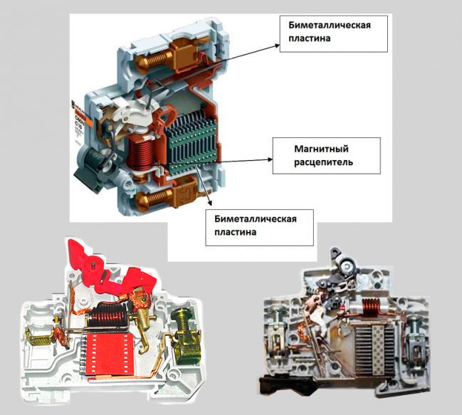 Обозначение автоматических выключателей