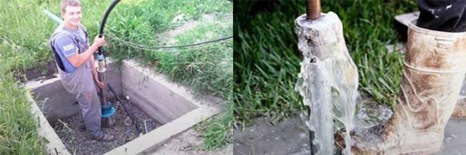 Насос для прокачки скважины после бурения