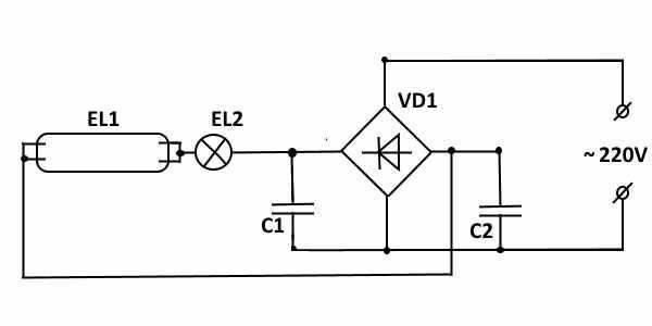 Электронный дроссель для люминесцентных ламп