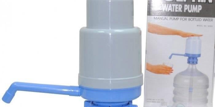 Ручной насос для воды из бутылки