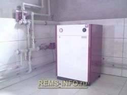 Система отопления двухтрубная с нижней разводкой
