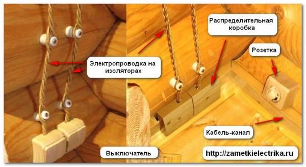 Проводка в кабель каналах в деревянном доме