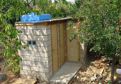 Построить душ на даче своими руками